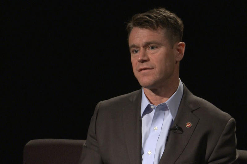 Republican U.S. Senate candidate Todd Young talks about some of the race's key issues. (Brandon Smith/IPB News)