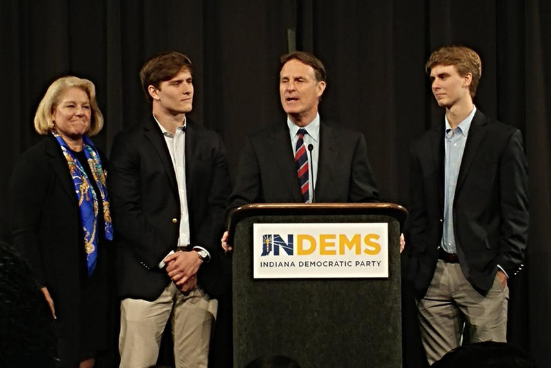 Democratic candidate Evan Bayh concedes to Republican Todd Young for Indiana's U.S. Senate seat. (Annie Ropeik/IPB News)