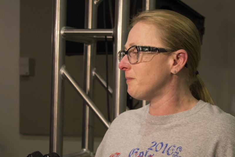 Dawnn Kinnard, a Carrier employee, says she's elated Trump followed through on a campaign promise. (Drew Daudelin/WFYI News)