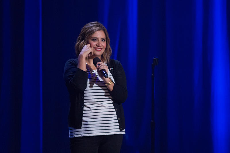 Cristela appears in a scene from her comedy special. (Photo Credit: Netflix)