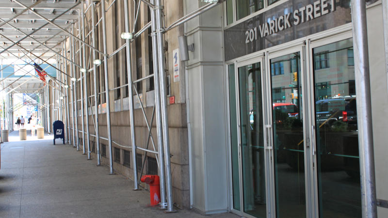<p>The entrance to the Varick Street Immigration Court in New York City. The city has begun a program to provide pro bono attorneys to every immigrant detainee in proceedings here.</p>