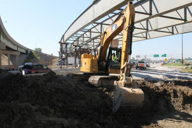 Interstate 69 construction near 116th Street in Fishers. (Indiana Department of Transportation)