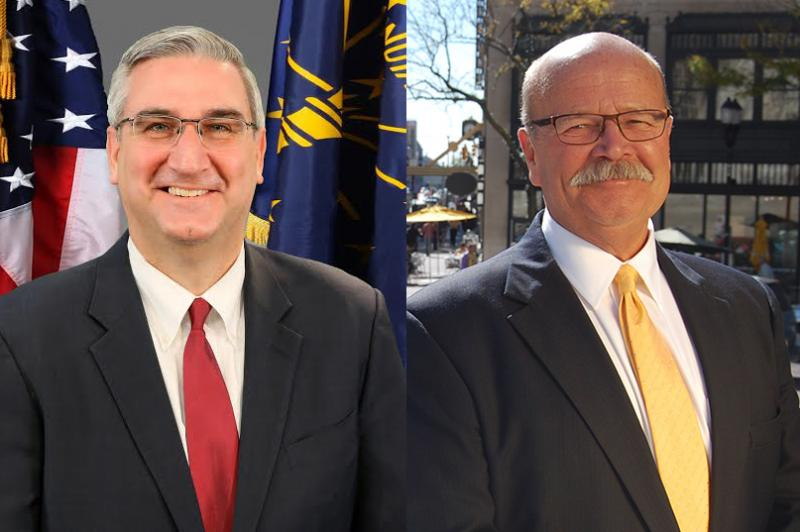 Left: Republican candidate Eric Holcomb Right: Democratic candidate John Gregg