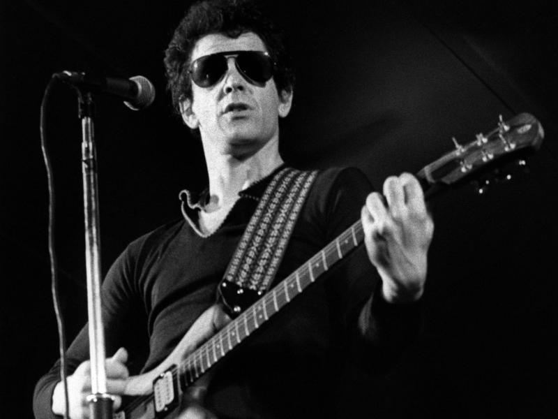 Lou Reed performs in Sweden in 1977. The musician's widow, Laurie Anderson, is donating his personal archive of recordings, photos and business records to the New York Public Library.