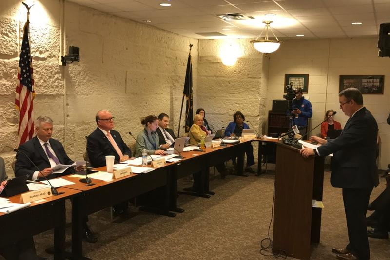The Senate Local Government Committee listens to testimony on the short-term rentals bill (Brandon Smith/IPB News)