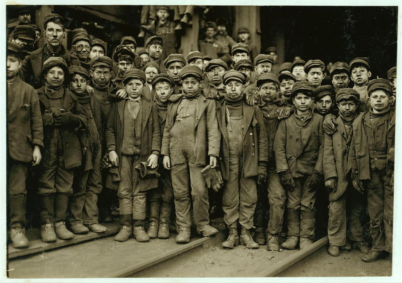 """<p dir=""""ltr"""">Breaker boys, who broke up pieces of coal, worked in Ewen Breaker of Pennsylvania Coal Co. in 1911. This image has been used and mislabeled in campaigns to perpetuate a myth about """"Irish slaves"""" being brought to the US.</p>"""