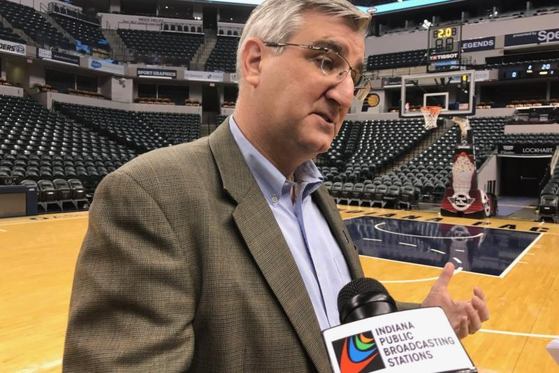 Gov. Eric Holcomb (R-Indiana) says he wants Indiana's Medicaid expansion - through its HIP 2.0 program - continued as federal lawmakers debate health care reform. (Brandon Smith/IPB News)