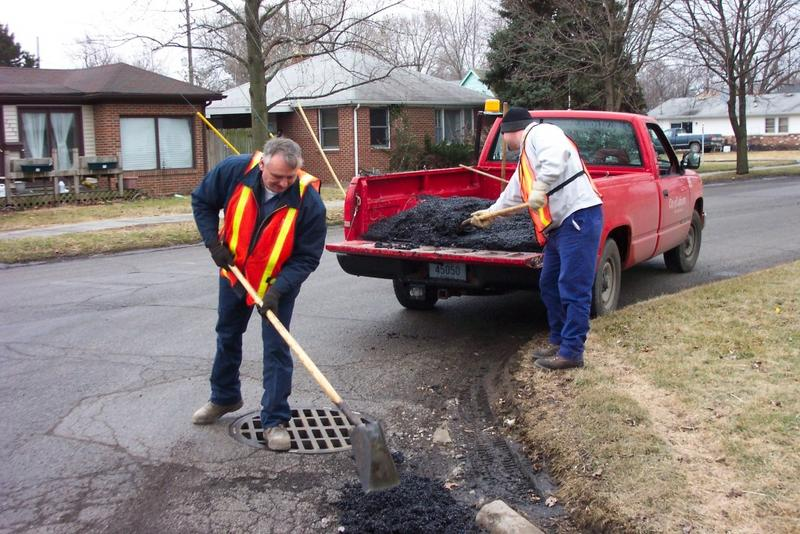 The Lafayette Street Department fills a pothole. (City of Lafayette)