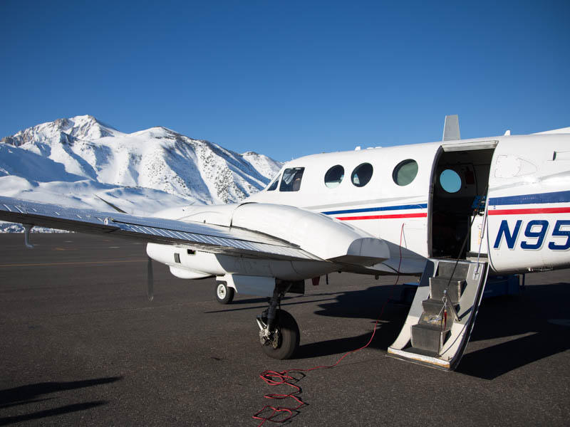NASA's Aerial Snow Observatory outfits a plane with equipment to examine and measure the snowpack using lasers.