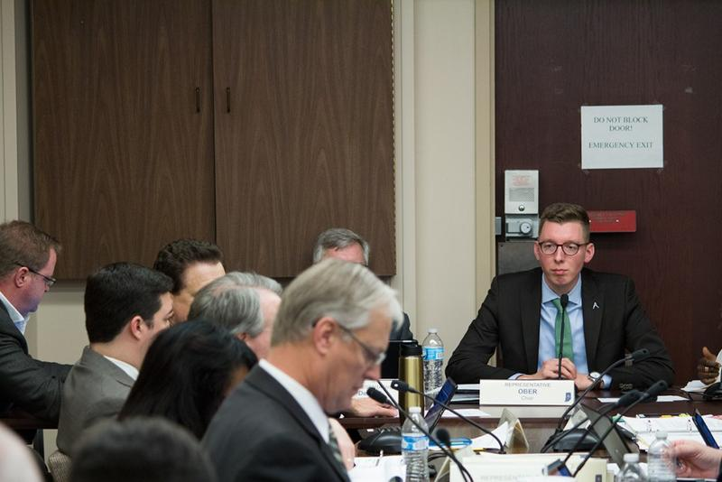 House Utilities Committee Chair Dave Ober (R-Albion) hears testimony on SB 309. (Nick Janzen/IPBS)