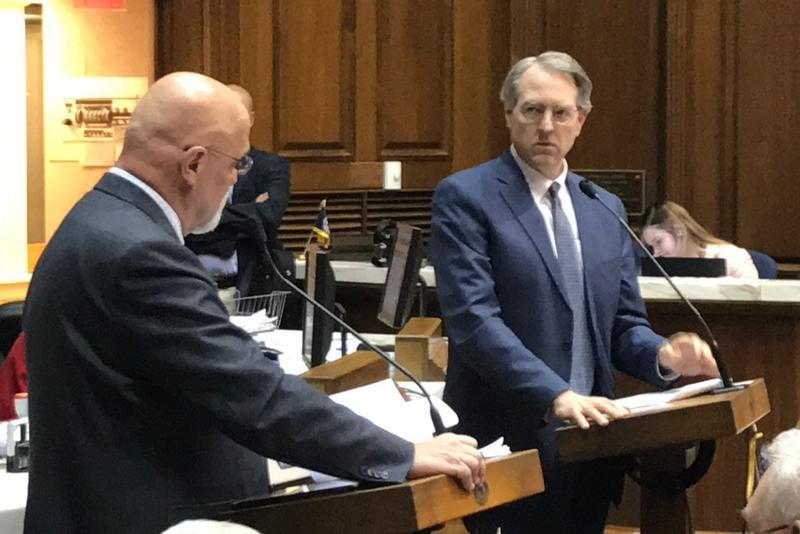 Lawmakers debate legislation on the House floor. (Brandon Smith/IPB News)