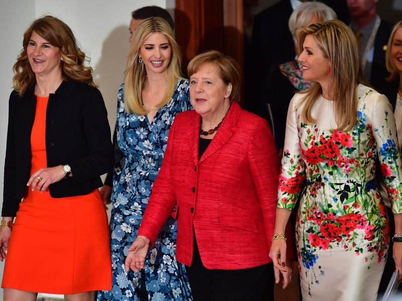 news ivanka trump angela merkel dutch queen maxima berlin