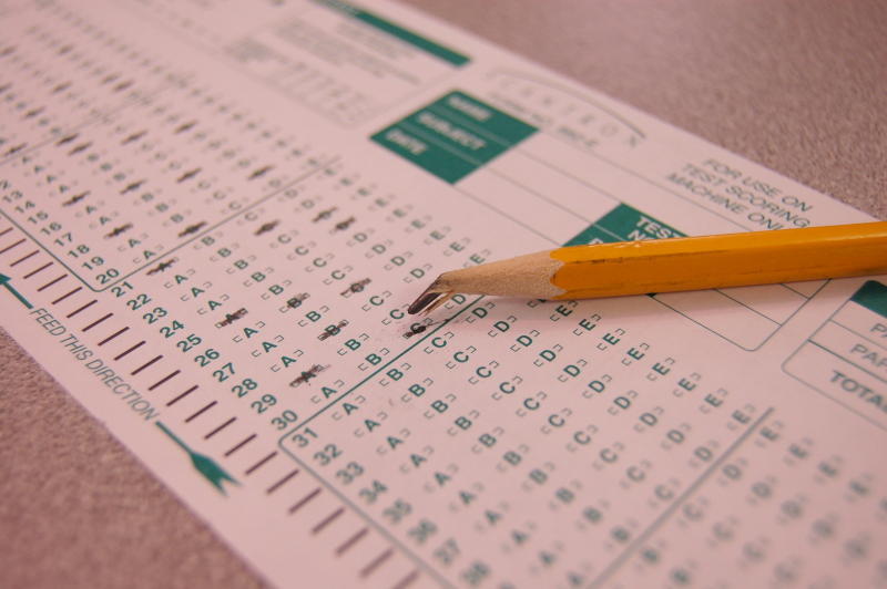 A Scantron testing paper and pencil. (Credit: Josh Davis/flickr).
