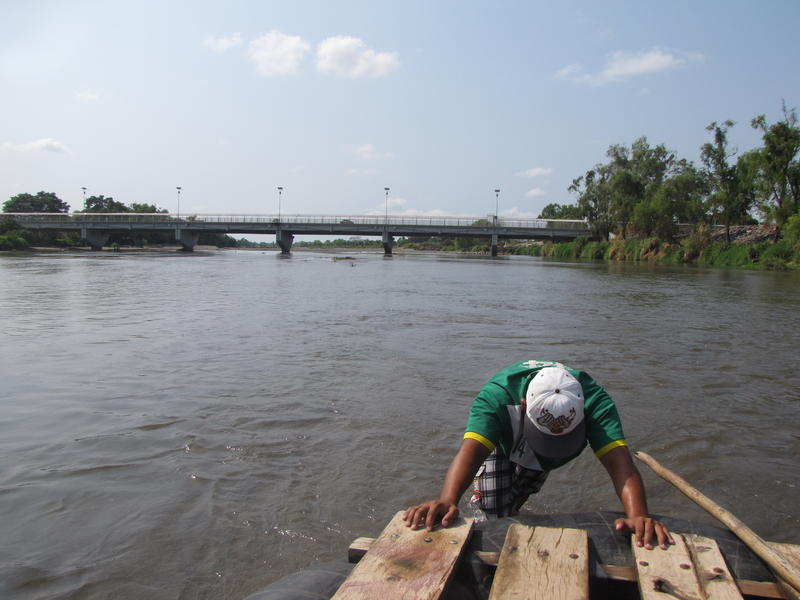 <p>Luis Fernando Pérez operates a raft along the Guatemala-Mexico border, a popular crossing point for migrants. He says that since Donald Trump took office, he has seen a dramatic drop in people passing through, although it is still too early to link the