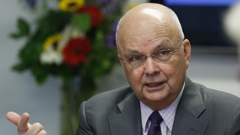 <p>Former NSA/CIA Director Michael Hayden talks during a Reuters CyberSecurity Summit in Washington, May 12, 2014. </p>
