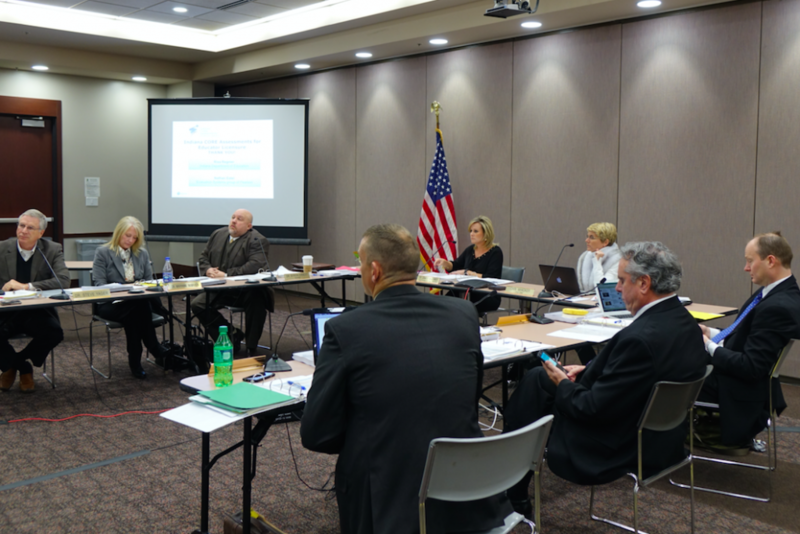The State Board of Education in session during its first regular meeting of 2017 on January 11 in the Indiana Government Center South in Indianapolis. (Eric Weddle/WFYI Public Media)