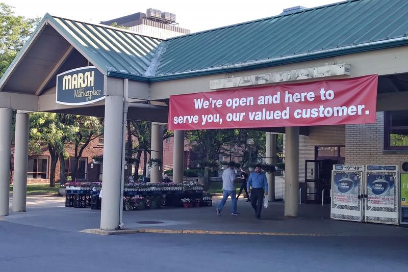 This Marsh store in Indianapolis remained open for business last week. (Lauren Chapman/IPB News)