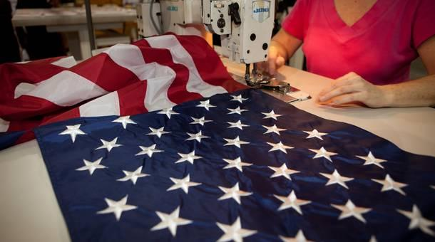 Annin Flagmakers, the oldest and largest U.S. flag manufacturer, has been in business since 1847.