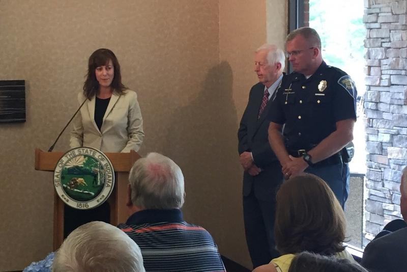 FSSA Secretary Jennifer Walthall announces changes to opioid treatment programs. (Jill Sheridan/IPB News)