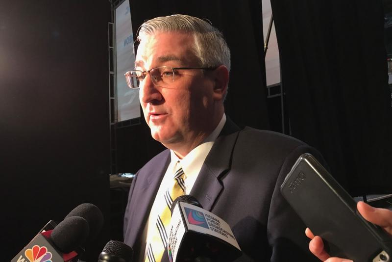 Gov. Eric Holcomb (R-Indiana) has previously evaded any commitment to releasing internal analysis of the impact federal health care legislation will have on Indiana. (Brandon Smith/IPB News)