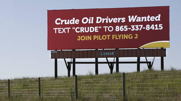 A billboard off Interstate 25 in southeastern Wyoming.