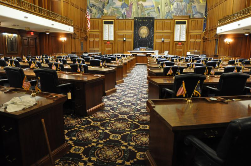 The House chamber of the Indiana Statehouse. (Credit: Shawna Pierson/flickr)