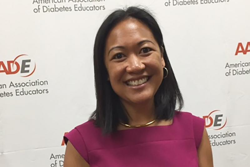 Indiana diabetes educator Jasmine Gonzalvo at the annual AADE conference. (Jill Sheridan/IPB News)