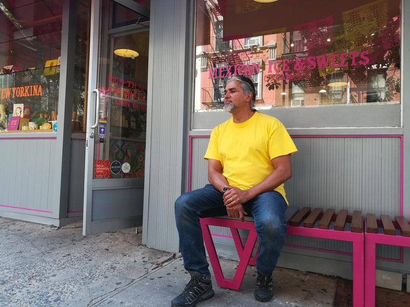 """<p dir=""""ltr"""">Ravi Ragbir is pictured in front of La Newyorkina, on Sullivan Street in New York City on June 28, 2017. The ice cream shop is near his office at Judson Memorial Church, where he leads the New Sanctuary Coalition. He's an immigrant advocate,"""