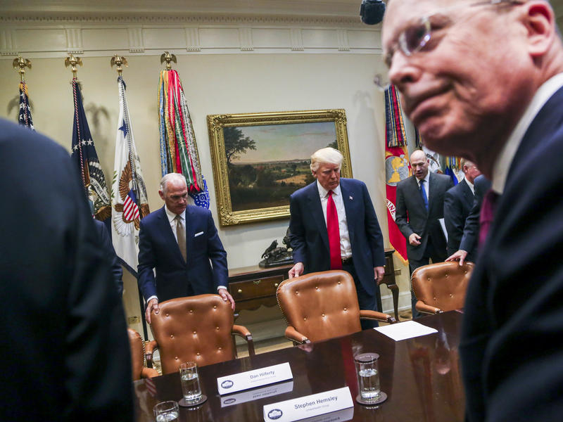 President Trump at a listening session with health insurance executives at the White House earlier this year.