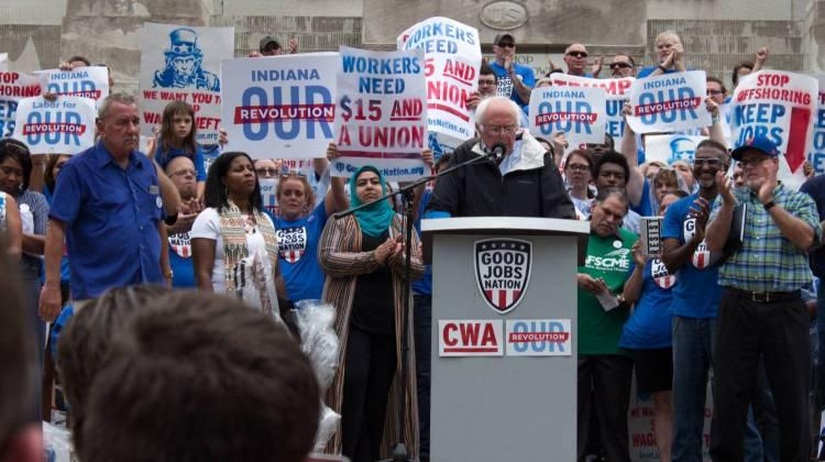Sanders' speech hit many of the same topics he focused on during the 2016 election – tuition-free college, universal healthcare, and higher taxes for the wealthy.