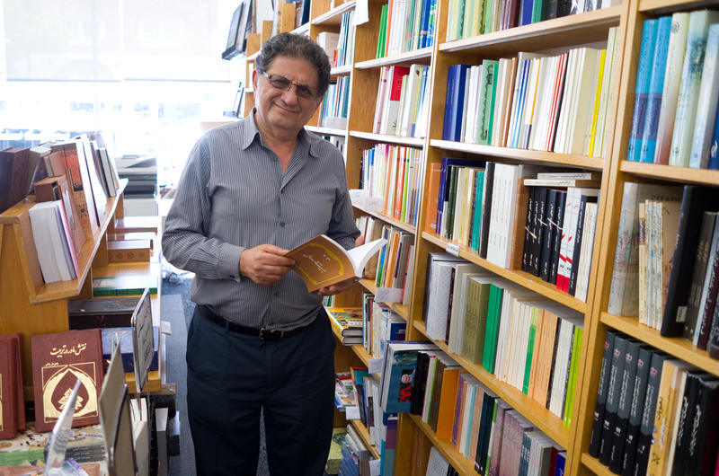 "<p>Bijan Khalili owns Ketab Corporation in Los Angeles, which sells and publishes uncensored Persian books that cannot be sold in Iran. ""Reading books is a human right,"" he says.</p>"