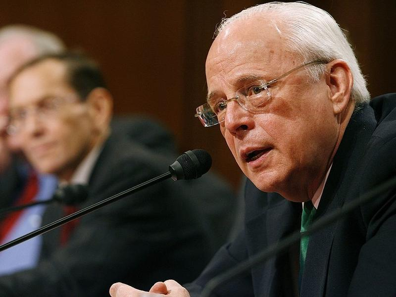John Dean, shown testifying before the Senate Judiciary Committee in 2006, served as White House counsel to former President Nixon. Dean says he sees echoes of the Watergate scandal in the Trump administration and its handling of the Russia investigation.