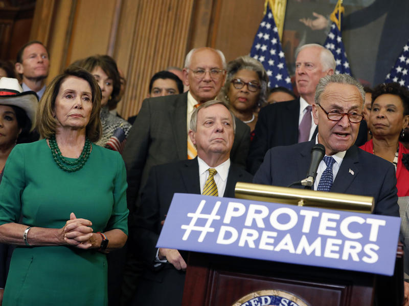 House Minority Leader Nancy Pelosi and Senate Minority Leader Chuck Schumer spoke on Sept. 6 about President Trump's decision to end DACA. The two say they worked out a deal with Trump on legislation.