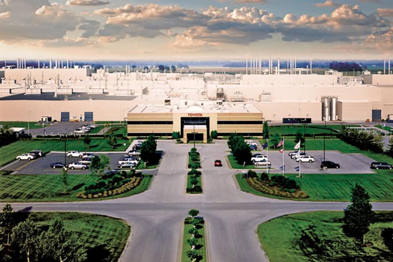 Japan-owned companies like Toyota have created big manufacturing clusters throughout southern Indiana. (Courtesy Toyota Motor Manufacturing Indiana)