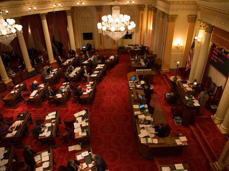 The California Senate floor on September 12, 2017.