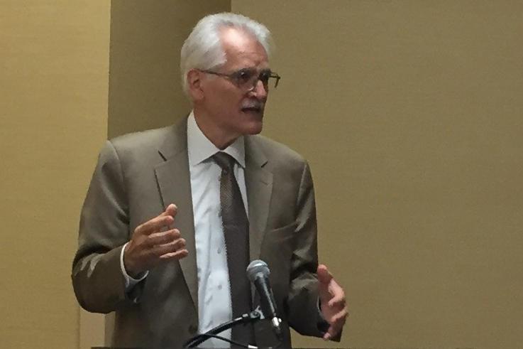 Sleep expert Dr. Charles Czeisler talks about sleep disorders. (Jill Sheridan/IPB News)