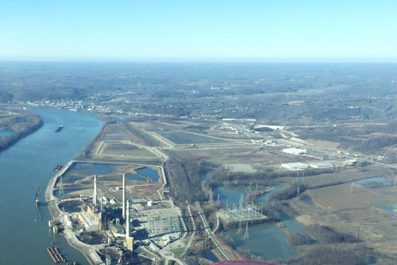 This former coal plant site in Lawrenceburg, on the Ohio River, could become Indiana's next port. (Photo courtesy of Ports of Indiana)