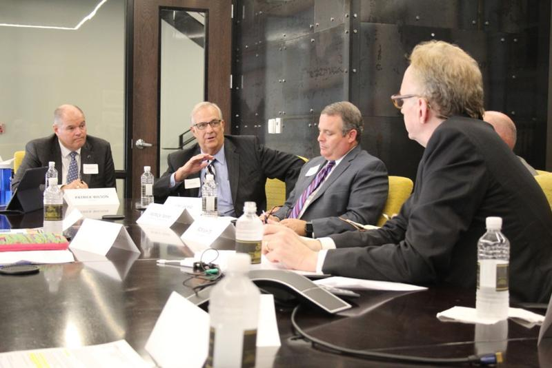 Consultant Lou Gerig, a former Reagan staffer, told Hoosier business leaders Thursday that they have to tell workers and the public what a corporate tax cut would do for the middle class. (Annie Ropeik/IPB News)
