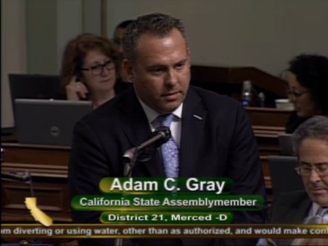 Asm. Adam Gray (D-Modesto) asks his Assembly colleagues to support his bill, AB 313, early in the morning of Saturday, September 16, 2017.