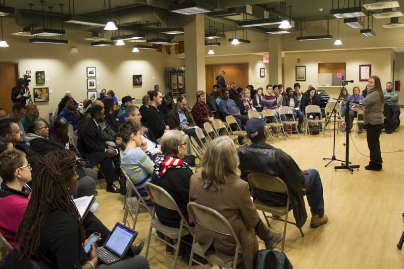 Residents and local officials meet in South Bend to discuss how lead contamination and abatement. (Nick Janzen/IPB News)