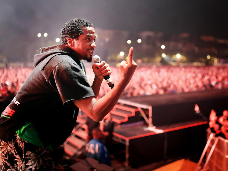 Q-Tip of A Tribe Called Quest performs onstage at FYF Fest in July in Los Angeles, Calif.