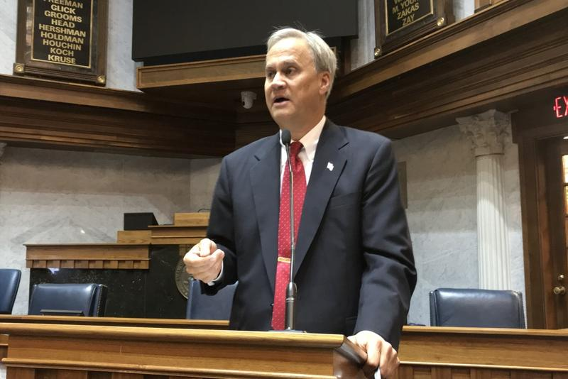 Sen. Jim Merritt (R-Indianapolis) says Indiana's criminal justice system has broken down at the court level. (Brandon Smith/IPB News)