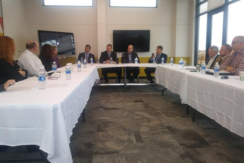 Business representatives from across Indiana gathered to discuss President Trump's tax reform framework. (Lauren Chapman/IPB News)