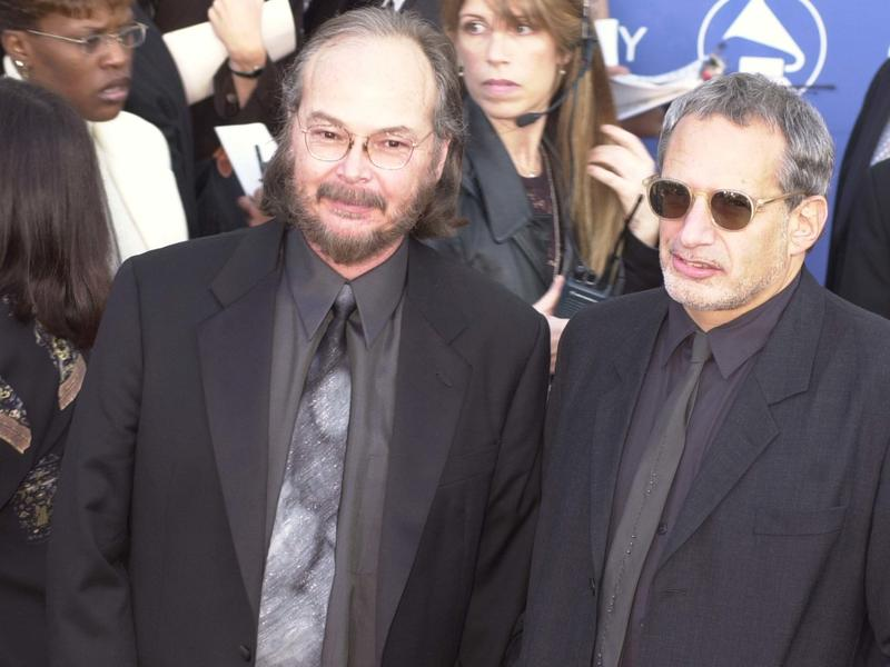 Steely Dan's Walter Becker (at left, who died in September), and Donald Fagen in Los Angeles in 2001.