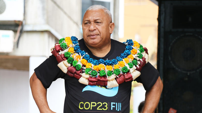 <p>Fiji's Prime Minister Josaia Voreqe Bainimarama recently led a rally in support of this year's UN climate summit in Germany, where Fiji will be presiding.</p>