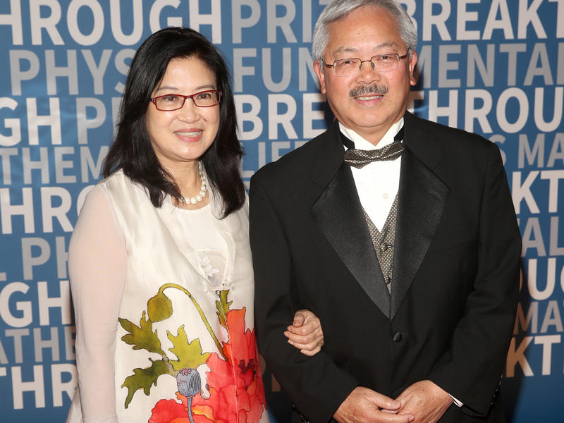 San Francisco Mayor Edwin Lee died in the early hours of Tuesday morning. He's seen here with his wife, Anita Lee, at a NASA event earlier this month.