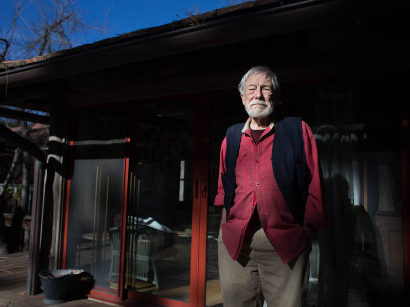 Poet Gary Snyder in his Nevada City, California, home.