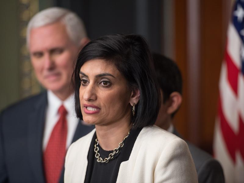 Seema Verma, administrator of the Centers for Medicare and Medicaid Services, led efforts to require work for Medicaid recipients while in charge of Indiana's program. She was sworn in as administrator of the Centers for Medicare and Medicaid Services by
