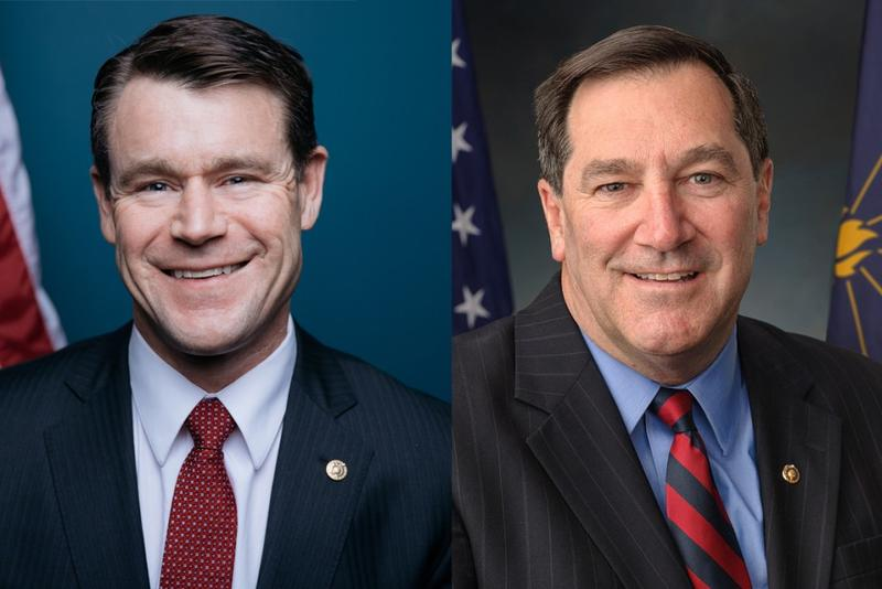 U.S. Sens. Todd Young and Joe Donnelly (Photo courtesy U.S. Senate)