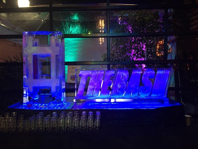An ice sculpture at the 13th annual Back-to-Session Bash, held at The Park nightclub just blocks from the California state Capitol in Sacramento on Thursday, January 11, 2018.